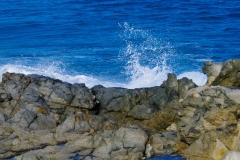 Tiefes Blau des Wasser